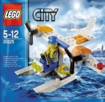 LEGO CITY Coast Guard Seaplane ; Surfer Rescue ; 4 by 4 Diving Boat
